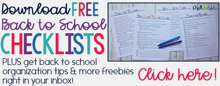 FREE Back to School Checklists