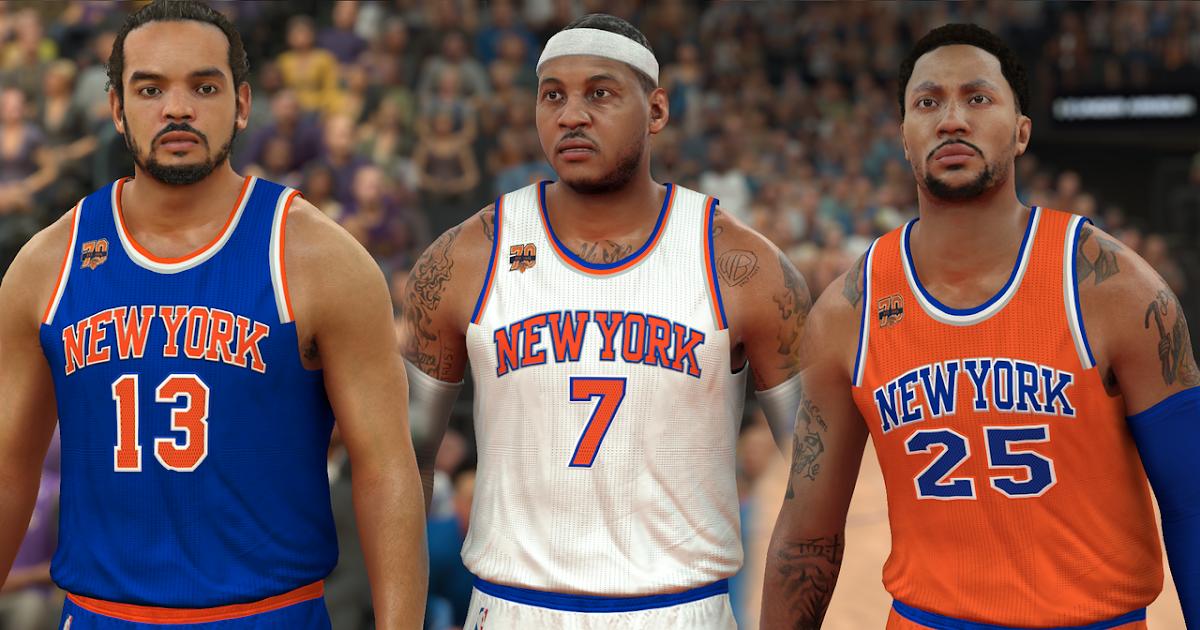 Nba Basketball New York Knicks: NBA 2K17 New York Knicks Jerseys V2.5 By Pinoy - DNA Of Basketball