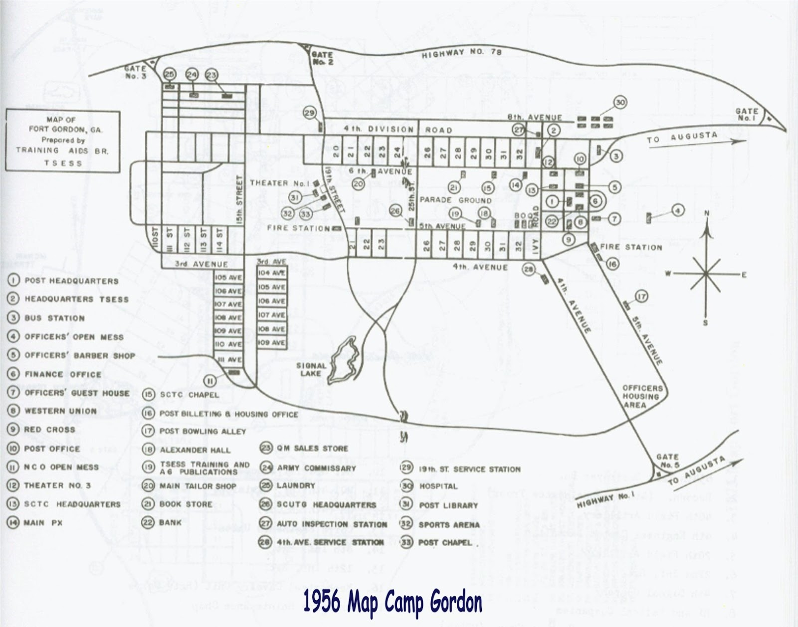 fort jackson map building numbers