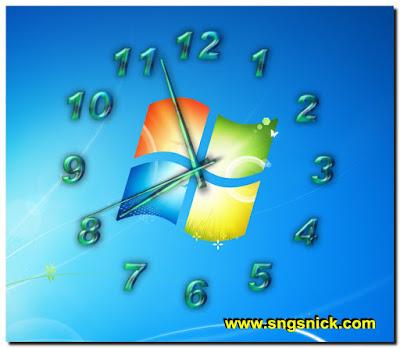TheAeroClock 4.05 - Пример вида воздушных часов