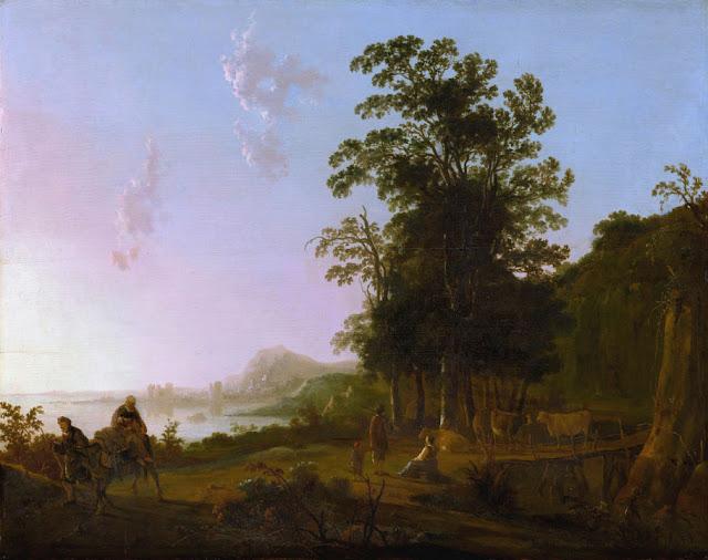 Альберт Кёйп - Пейзаж с бегством в Египет. ок1650