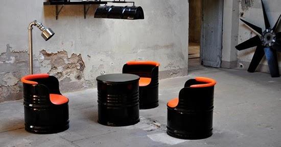 Desain sofa unik dari drum bekas  Teknologi Konstruksi