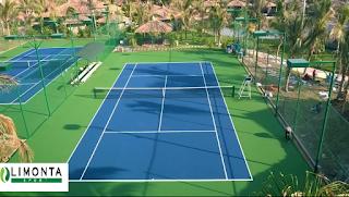Thi công sân tennis đất cứng của Limonta