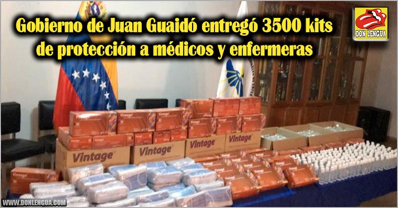 Gobierno de Juan Guaidó entregó 3500 kits de protección a médicos y enfermeras