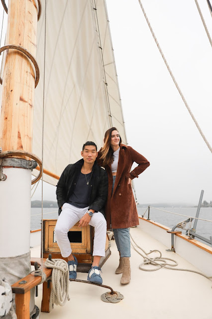 Fall Couple Outfit Ideas | Alicia Mara and Leo Chan Wearing Brooks Brothers