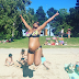 Photo of pregnant woman jumping on the beach goes viral