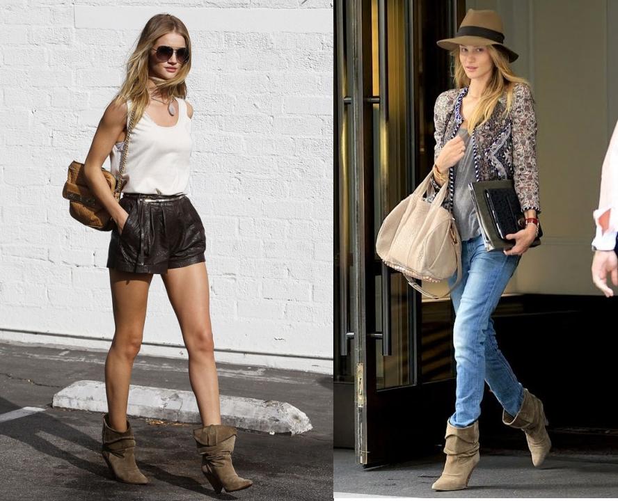 6ec3b214a6a Rosie Huntington-Whiteley in Isabel Marant boots - Bijoux fantaisie ...