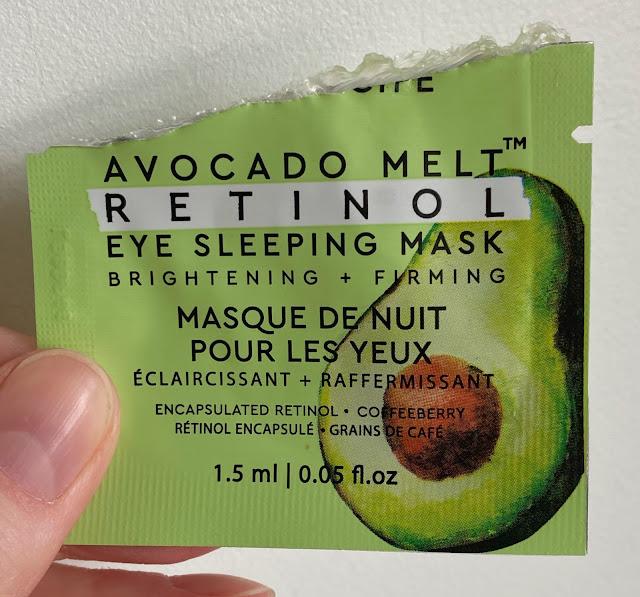 Glow Recipe Avocado Melt Retinol Eye Sleeping Mask sample