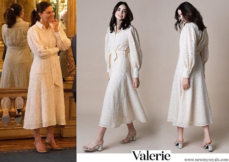 Crown Princess Victoria wore Valerie Stockholm libby shirt dress lace