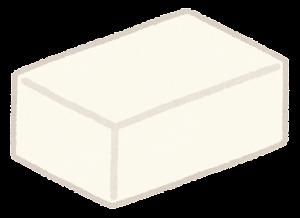 四角いチーズ・バターのイラスト2