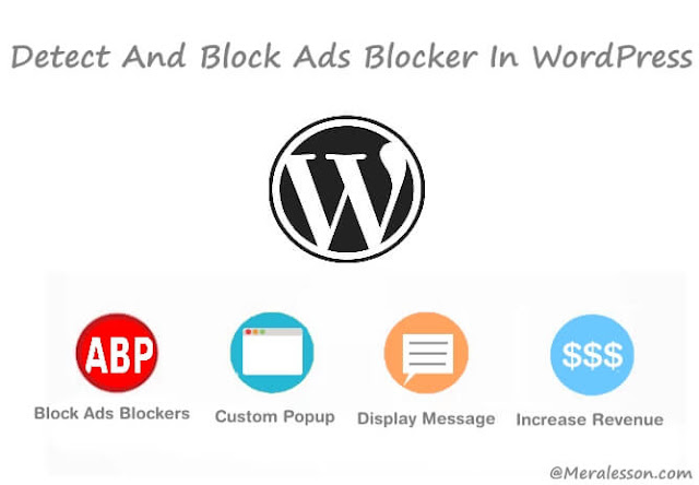 block ads blocker in WordPres
