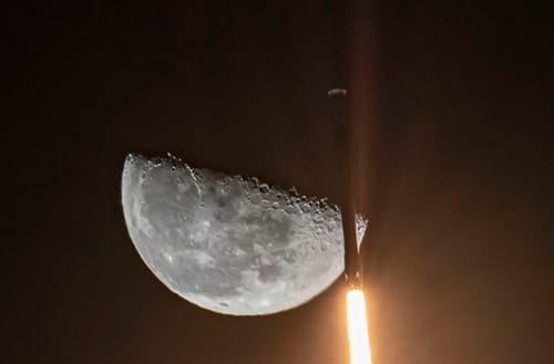 SpaceX has sent a mission to the moon with funding from Dogecoin