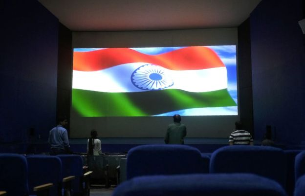film fans challenging India's anthem order