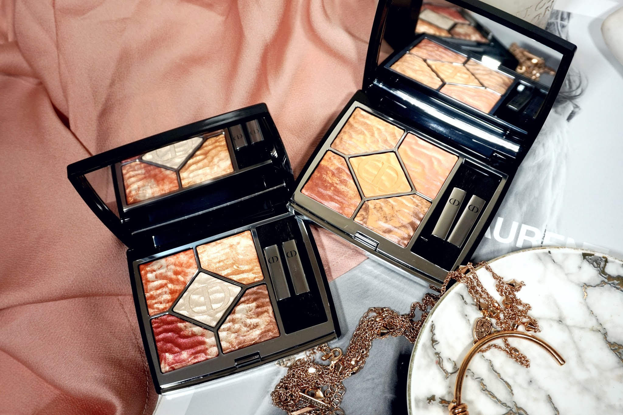 Dior Summer 2021 Dune & Mirage 5 Couleurs Eyeshadow Palette Review and Swatches