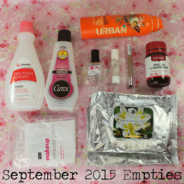 September 2015 Empties