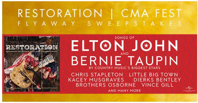 Win a Trip to the 2018 CMA Music Festival From Restoration ~ 2019