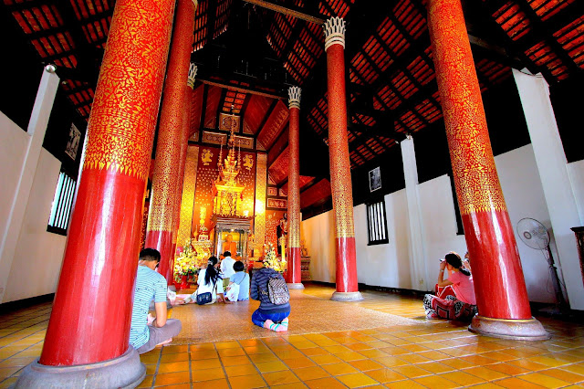 Inside Temple Old Town Travel Photography Chiang Mai Thailand