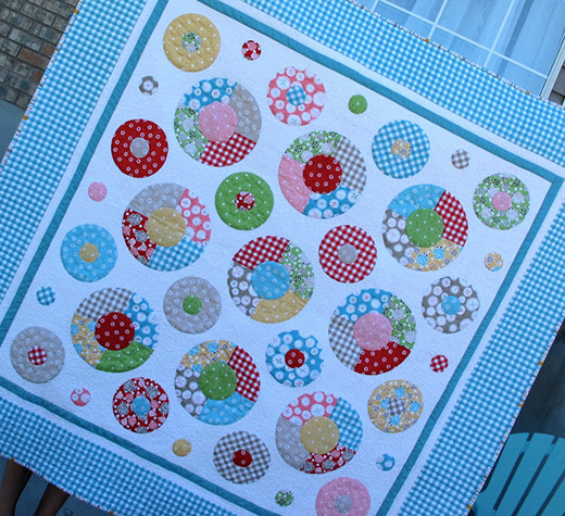 Lots of Dots Quilt made by Lori Holt of Bee in my Bonnet, The Pattern designed by Riley Blake Designs