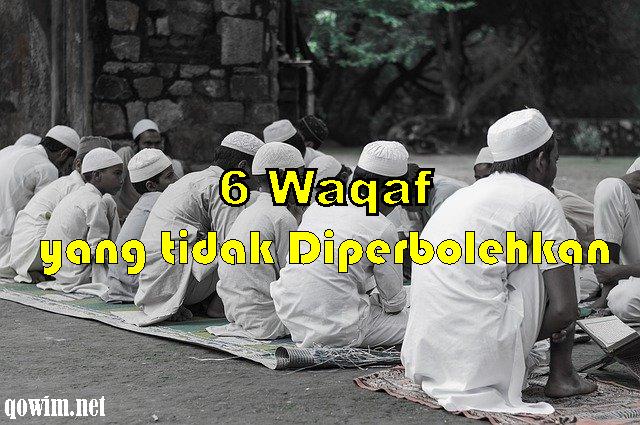 6 Waqaf yang tidak diperbolehkan