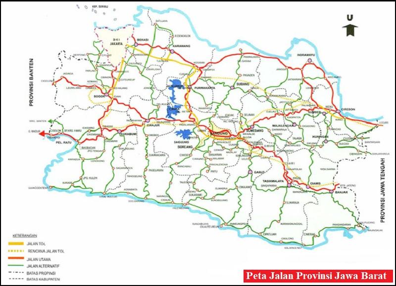 Peta Jalan di Provinsi Jawa Barat