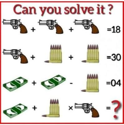 Gun Bullets Cash Puzzle