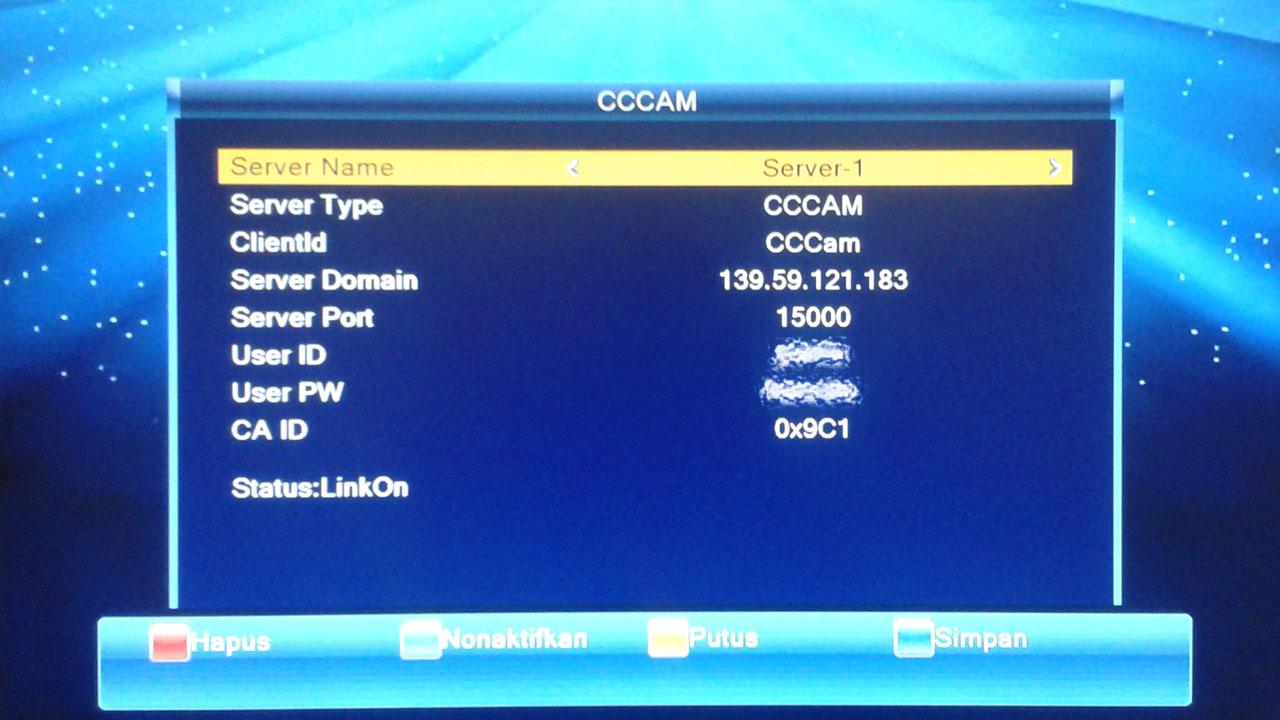 Cara Input Tiket Fly Cccam di LGsat Bigbang