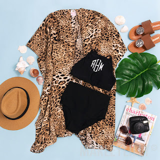 leopard beach cover up