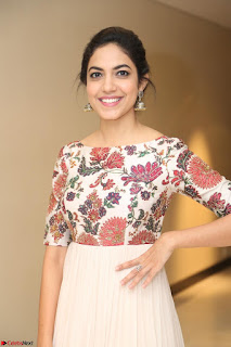 Ritu Varma smiling face Cream Anarkali dress at launch of OPPO New Selfie Camera F3 ~  Exclusive 091.JPG