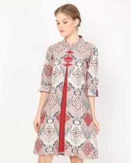 model dress batik wanita terbaru 2021