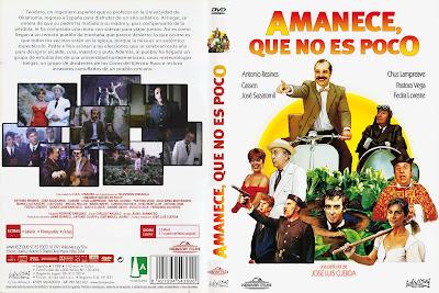 Carátula dvd: Amanece que no es poco 1988