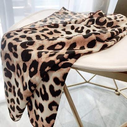 Cheetah Animal Print Satin Scarves