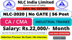 Neyveli Lignite Corporation Limited (NLC) Engagement of Industrial Trainee (Finance) Apply Online @nlcindia.com /2020/03/NLC-India-Limited-Recruitment-for-Industrial-Trainee-Finance-Apply-Online-nlcindia.com.html
