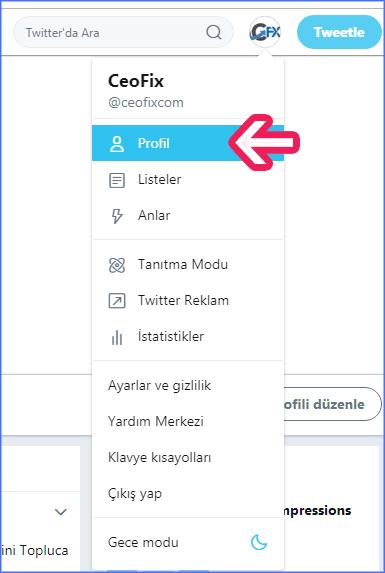 Twitter'da İsim Soyisim Değiştirme Nasıl Yapılır ? www.ceofix.com