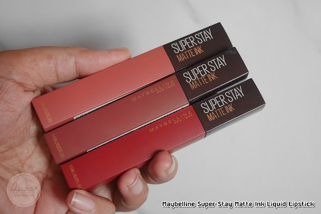 :: รีวิวลิปกาแฟ Maybelline Super Stay Matte Ink Liquid Lipstick สี 260 265 270 ::