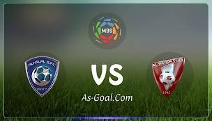 نتيجة مباراة الوحدة والهلال في الدوري السعودي