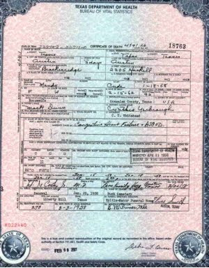 Texas Birth Certificate Anderson County Get Vital Record