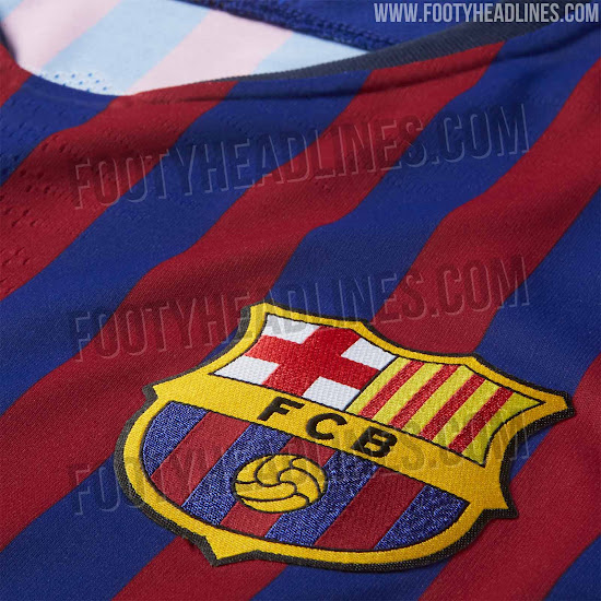 Fc Barcelona 18 19 Home Kit Released Footy Headlines