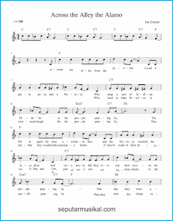 chord across the alley from the alamo 1 lagu jazz standar