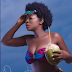 Actress Yvonne Jegede shows off her incredible body in  African Print Swimwear