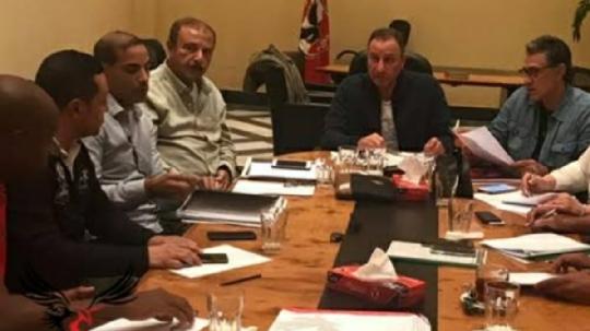 أعضاء لجنة التخطيط فى الأهلى مع الخطيب