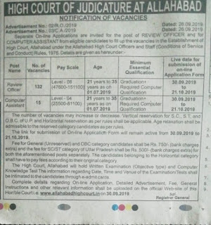 UPHC Allahabad High Court Review Officer, Computer Assistant Exam pattern and Syllabus