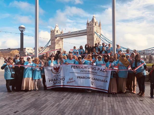 WNI di London Dukung Prabowo-Sandi di Pilpres 2019