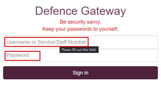 Defence Gateway Login Step by step Process: