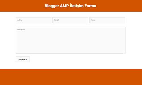 Blogger AMP İletişim Formu