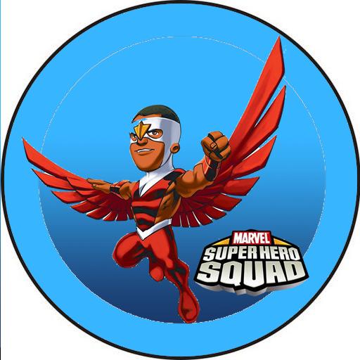 Toppers o Etiquetas para Imprimir Gratis de Marvel Superhero Squad.