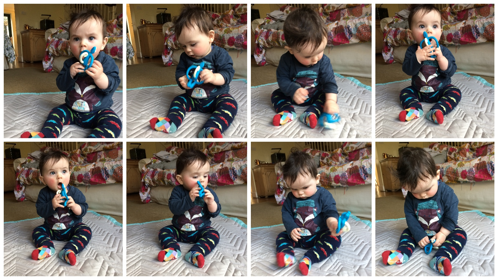 Matchstick Monkey Teether in Action
