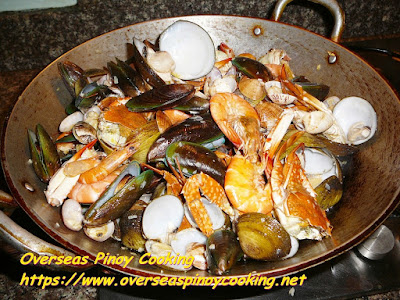 Pinoy Garlic Buttered Mix Seafood Cooking Procedure