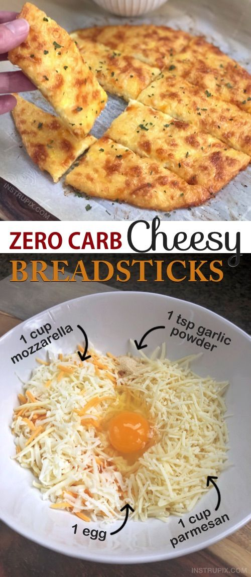 "KETO Cheesy Garlic ""Breadsticks"" (4 Ingredients)"
