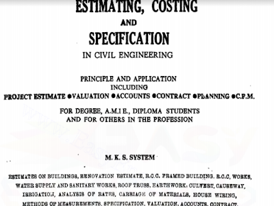 [PDF] Estimating Costing Book by M.Chakraborthy ▽ free Download ▽