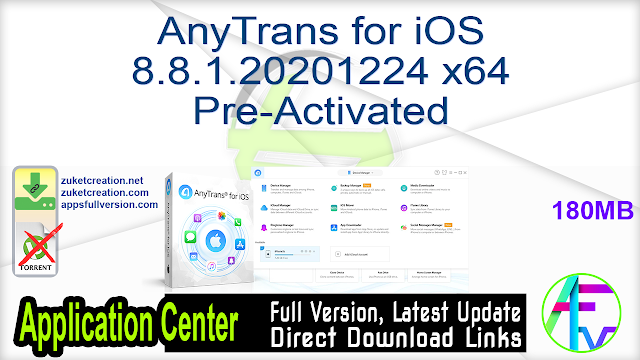 AnyTrans for iOS 8.8.1.20201224 x64 Pre-Activated